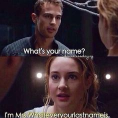 I'm right there with you, Tris. I'm Mrs. Taptiklis/ Mrs. James