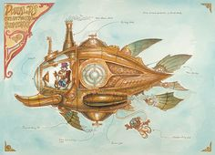 Steampunk Tendencies | Donalds-Steam-Powered-Submarine-Blog-mechanical-kingdoms