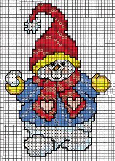 free cross stitch chart snowman
