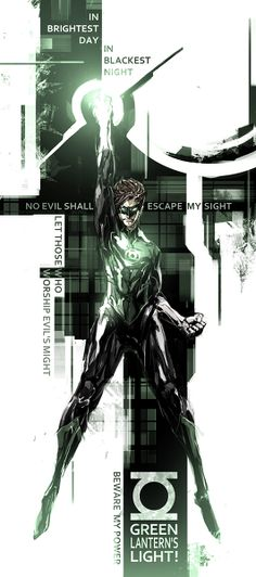 Comic + Design + illustration. Lovely.  Green Lantern by naratani  I'm not big on Green Lantern, but this is awesome.