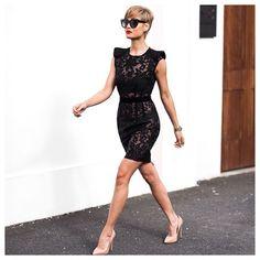 The perfect little black {lace} dress... ✔️by @bronxandbanco #bronxandbanco