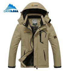 cb2d4921117 Buy RAY GRACE Winter Jacket Men Outdoor Thick Fleece Thermal Coat Waterproof  Hiking Jacket Camping Mountain Climbing Parka Plus Size