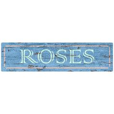 The Roses Wall Decal makes your room bloom with style and beauty! This handsome peel and stick wall graphic has the look of weathered wood and sports the sky blue of a spring morning. It's the perfect way to get the look of a country flower shop in your favorite room! Best of all, it goes on easily and can be removed whenever you want to change your decor.