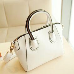 White Faux Leather Zipper Detail Straps Handbag, womens handbags,designer  handbags,discount handbags,fashion handbags,cheap handbags,girls hand bags  ... c6a3abe7d8