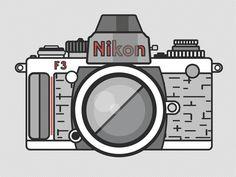 Camera Illustrations by Zachary VanDeHey, via Behance