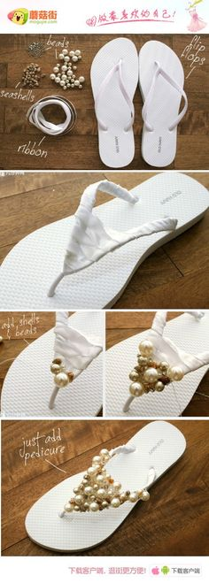 Ooo that would be fun, dress up all my cheap flip flops i love so much xD sandalias decoradas Flip Flops Diy, Cheap Flip Flops, Bling Flip Flops, Flip Flop Craft, Decorate Flip Flops, Dressy Flip Flops, Cute Crafts, Crafts To Do, Diy Projects To Try