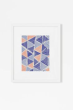 Colorful Graphic Art - Abstract Geometric Art Print - Modern Pink and Blue Artwork - 5x7, 8x10, 11x14 - Vertical or Horizontal