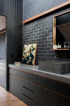 Local Australian Architecture And Interior Design Point Lonsdale Studio Created By Robert Ashby Architects 12 Australian Architecture, Green Architecture, Concept Architecture, Sage House, Diy Bathroom Decor, Bathroom Ideas, Kitchen Utilities, Timber Cladding, Sustainable Design