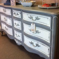 French Style Dresser painted with Annie Sloan Chalk Paint
