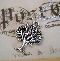 The Giving Tree Charm Necklace  everyday jewelry by lucindascharms, $10.00
