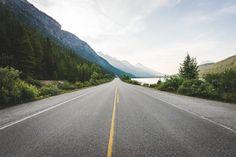 On an Open Road in Canada by Kelly Van de Vliet on Creative Market