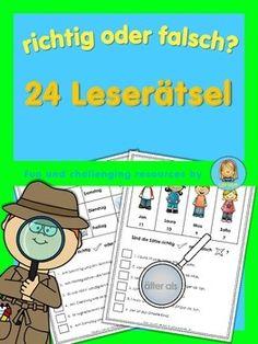 German Reading Challenge - richtig oder falsch? 24 Leserätsel