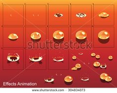 Bubble Effect Animation.Can use for game design or animation. - stock vector
