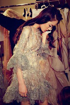 Backstage at Elie Saab Spring 2015 Couture