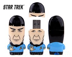 Spock Star Trek Flash Drive-This thumb drive also comes packed with digital extras like matching avatars, wallpapers and desktop icons. #ThumbDrive