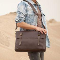 Leather Briefcase, Messenger Bag, Laptop Bag