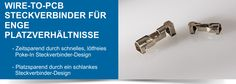 SHC GmbH - Wire-to-PCB Steckverbinder für enge Platzverhältnisse