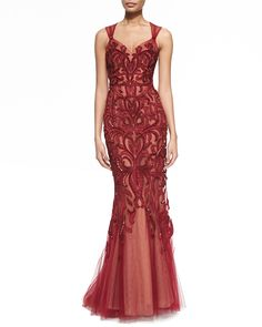 Zuhair Murad Beaded & Embroidered Sweetheart Gown