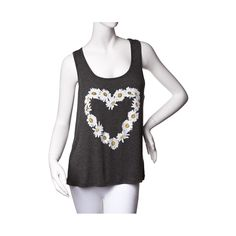 Shop for Womens Daisy Heart Tank in Heather Gray at Journeys Shoes. Shop today for the hottest brands in mens shoes and womens shoes at Journeys.com.Celebrate peace and love as you show off your inner flower child in this fun Daisy Heart Tank. Heather gray cotton tank top featuring front flower print in the shape of a heart.