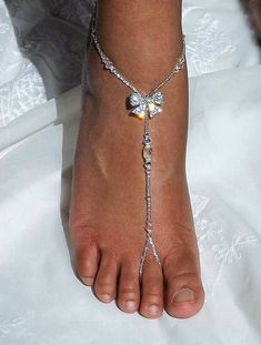 044ade5017213f Foot Jewelry Beach Wedding Barefoot Sandal Moonstone Foot Jewelry Bridal  Jewelry Set Barefoot Sandal and anklet Set. Bow SandalsBare ...