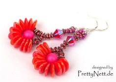 Earrings Rose Petal Wheel - Media - Beading Daily