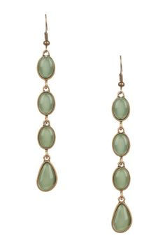 These earrings are so cute and cheap! I love this green color.