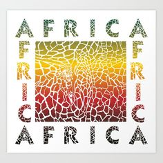 Colorful Background giraffe and text Africa Art Print by vladimirceresnak Africa Art, From The Ground Up, Buy Frames, Unique Art, Printing Process, Colorful Backgrounds, Giraffe, Your Style, Waiting