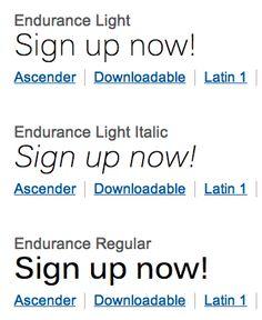 Endurance Light / Regular