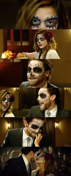 """Screen grabs from the music video """"No Matter Where You Are"""" by Us The Duo as part of the Book of Life Movie Soundtrack. Dia De Los Muertos, Calavera, Sugar Skull"""