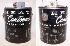 Beautiful lettering on this Heathkit Cantenna from Box Vox.
