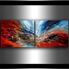 Huge SURREAL PAINTING Abstract ART oil Painting on by largeartwork