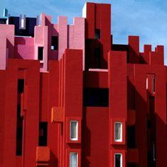 Apartment Block. La Muralla Roja  1973, Calpe, Alicante, Spain by Ricardo Bofill