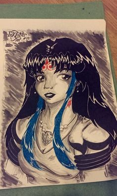Day 8: My OC Lince when she was young, for #INKtober 2014.