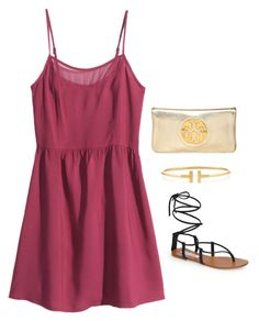 """gladiator sandals--NEED"" by helenhudson1 ❤ liked on Polyvore featuring H&M, Steve Madden, Tiffany & Co. and Tory Burch"