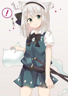 Anime Neko, Touhou Anime, Anime Furry, Loli Kawaii, Kawaii Anime Girl, Anime Art Girl, Anime Illustration, Illustrations, Persona Anime