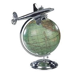 Vintage Globe with Airplane ($99.90 from 1WordGlobes.com)