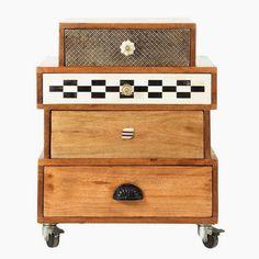 Michelle - Blog #Cabinets #Unstructured Fonte : http://www.maisonsdumonde.com/IT/it/produits/fiche/armadietto-a-rotelle-in-mango-l-50-cm-fes-fes-146761.htm