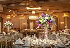 Our luxurious banquet hall features high ceilings, crystal chandeliers, palladium windows, a descending staircase, and impeccable architecture that provides the backdrop for your once-in-a-lifetime occasion.