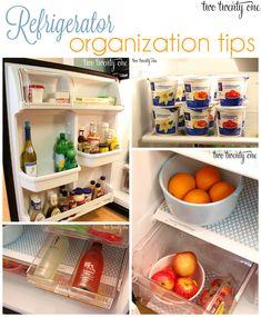 Great refrigerator #organization tips!