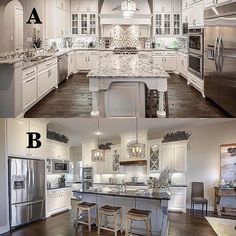 "6,205 Likes, 757 Comments - Cecelia (@thewelldressedhouse) on Instagram: ""Comment below A or B to choose your favorite kitchen design!....Tag your bestie!.... via…"""
