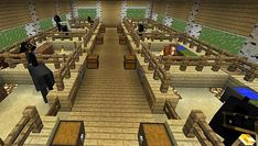 Aw sweet and will be very fun to build on Minecraft! Minecraft Horse Stables, Minecraft Barn, Minecraft House Plans, Minecraft Construction, Minecraft Games, Minecraft Blueprints, Minecraft Crafts, Minecraft Designs, Minecraft Architecture