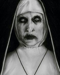 Drawing Charcoal Charcoal drawing of Valak from The Conjuring 2 Zombie Drawings, Halloween Drawings, Dark Art Drawings, Pencil Drawings, Scary Drawings, Scary Movies, Horror Movies, Horror Villains, Horror Drawing