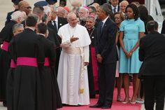 Michelle Obama In Focus: Le Président félicite le Pontife