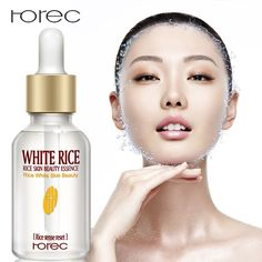 ROREC Collagen White Rice Face Serum Hyaluronic Acid Essence Shrink Pore Moisturizing Oil Control Anti-Wrinkle Lighten Skin Care We offers a wide selection of trendy style women's clothing. Affordable prices on new tops, dresses, outerwear and more. Anti Aging Moisturizer, Facial Serum, Beauty Essence, Anti Aging Eye Cream, Shrink Pores, Lighten Skin, Skin Care Cream, White Rice, Signs