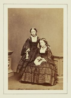 Princess Helena and Princess Louise, June 1860 [in Portraits of Royal Children Vol.5 1860-1861]