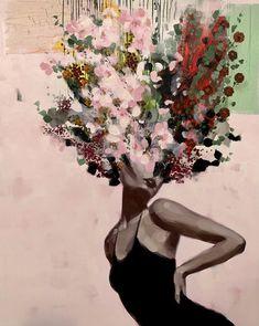 New York's JoAnne Artman Gallery announces Urban Flora show featuring Penelope Gottlieb, Anna Kincaide Watercolor Art, Art Painting, Art Photography, Surreal Art, Art Drawings, Painting, Painting Art Projects, Portrait Art, Aesthetic Art