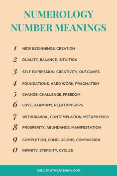 Numerology Number Meanings | Numerology | Numerology Numbers | Numerology Numbers Meanings | Number Meanings #numerology #divination #soultruthgateway