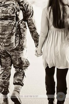 Air Force Homecoming....cute engagement shot?