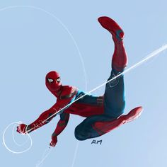 """5,943 Likes, 22 Comments - Ryan Meinerding (@ryan_meinerding_art) on Instagram: """"Web slinging Spidey! This was done for pose exploration on Captain America: Civil War. So much fun…"""""""