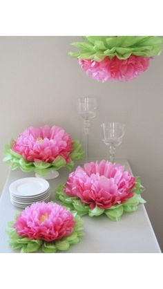 Decor paper flowers